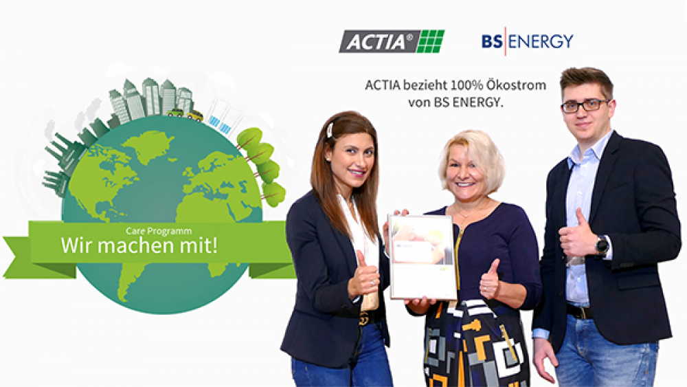 100% green electricity for ACTIA I+ME
